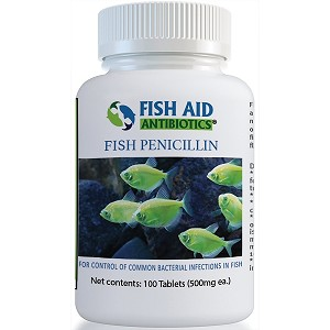 Fish Aid Penicillin - 500 mg. strength - 100 tablets