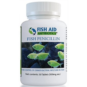 Fish Aid Penicillin - 500 mg. strength - 30 tablets