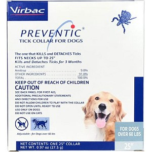 Preventic Tick Collar for Dogs - 60 lbs. and over -  25 inch