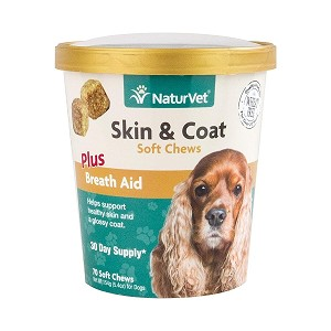 Helps support healthy skin and a shiny, glossy coat with added breath aid to help freshen breath