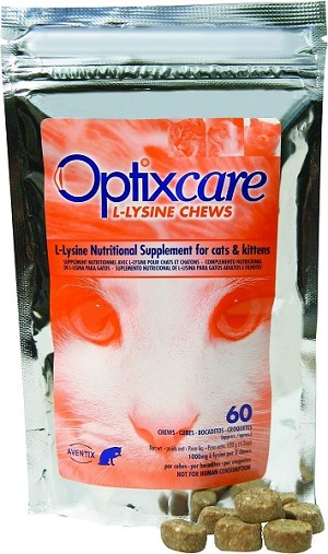 Optixcare L-Lysine Chews - 500 mg. L-Lysine per chew - 60 Chews