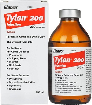 Tylan has an antibacterial spectrum that is essentially gram-positive, but it is also active against certain spirochetes, large viruses, and certain gram-negative organisms (not including coliforms).