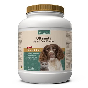 Formulated with only the highest quality, 100% all natural ingredients - combines the benefits of natural Omega 3, Omega 6, and Omega 9 Fatty Acids for healthy skin and a glossy coat, as well as being fortified with biotin, vitamins, and minerals important to maintain normal digestion and for overall health