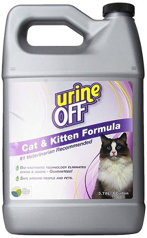 Urine-Off Odor and Stain Remover - Cat and Kitten - Gallon