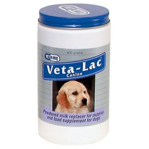 A carefully balanced blend of proteins, fats, carbohydrates, vitamins, and minerals makes Veta-Lac Canine powder the appropriate substitute for bitch's milk
