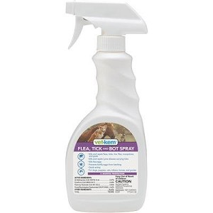 For use on dogs, cats and horses, kills and repels fleas, ticks, lice, flies, mosquitoes and gnats – also kills flea eggs and prevents bot fly eggs from hatching